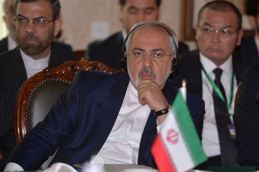 Iranian Foreign Minister Mohammad Javad Zarif at the Heart of Asia conference in Islamabad on Dec 9, 2015.