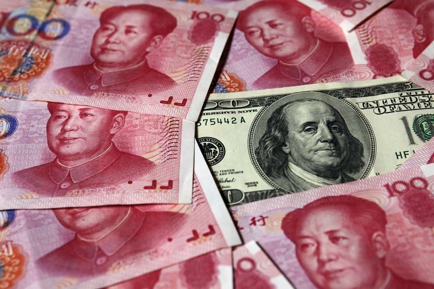 The yuan sank to a five-year low in offshore trading on after China's central bank lowered its reference rate for seventh day in a row.