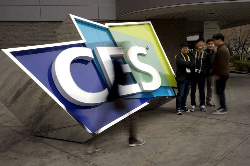 A sign outside the Consumer Electronics Show in Las Vegas on Jan 5.