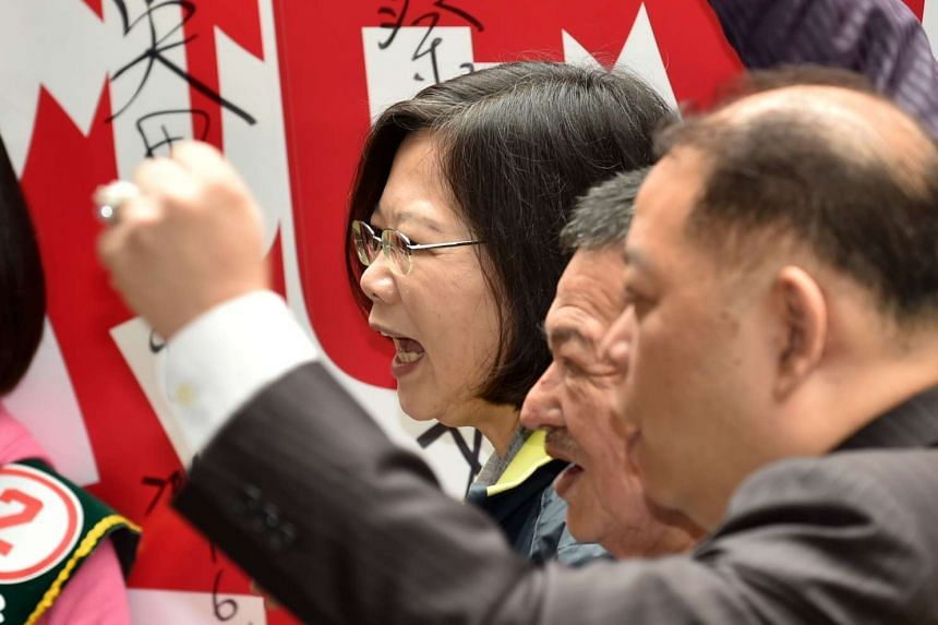 Ms Tsai Ing-wen has said she wants to preserve the status quo with China if she becomes president, but opponents say she would destabilise ties.