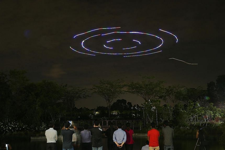 The multi-drone display to be performed at Gardens by the Bay is believed to be the first time in Singapore that so many unmanned drones are flown together in an outdoor setting for public display.
