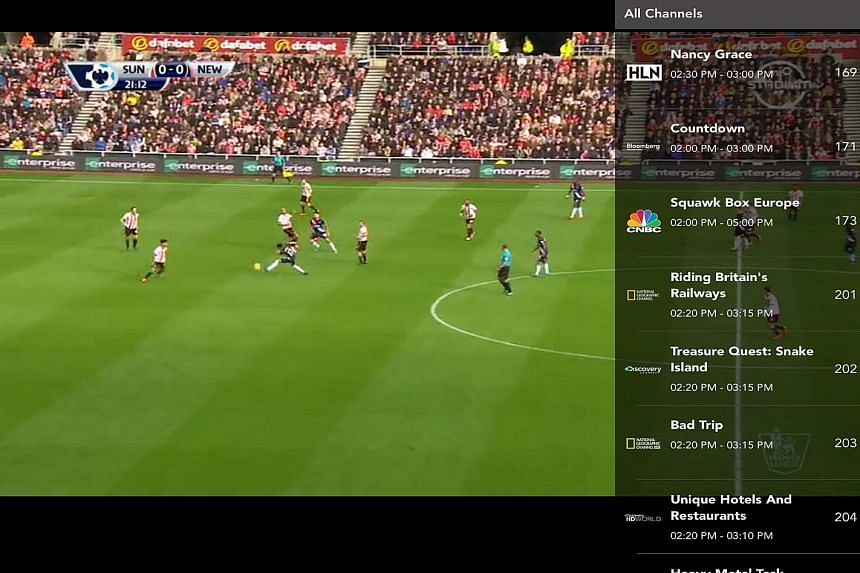 If you are a football fan, you would be happy to know that the Singtel TV GO app comes with a specially-created Sports Portal. This lets you watch live fixtures and video highlights of matches from the English Barclays Premier League and Uefa Champio