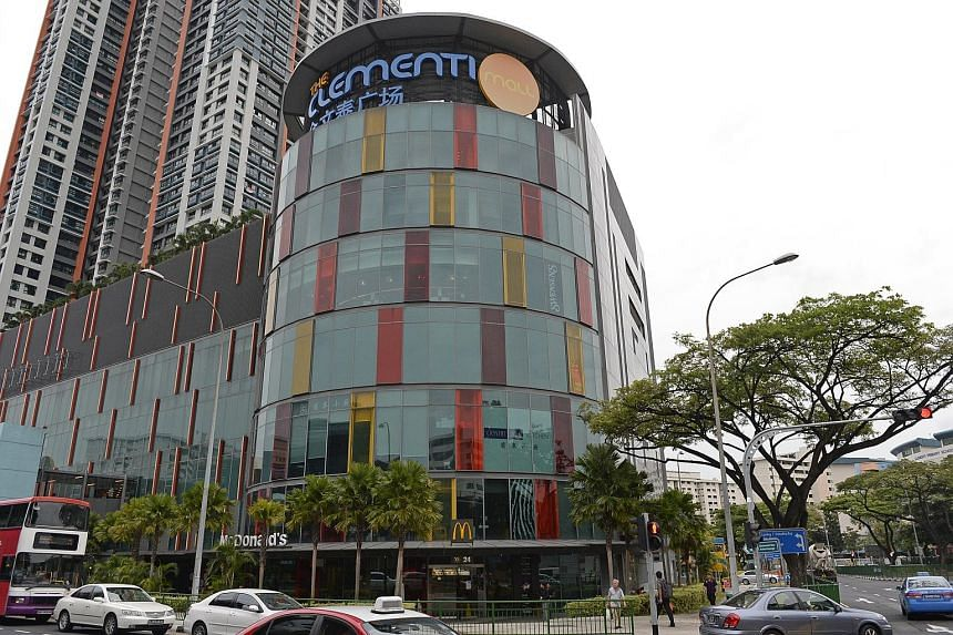 The manager of SPH Reit said the two properties under management - Paragon and Clementi Mall (above) - continued to demonstrate resilience, and achieved positive rental reversion.