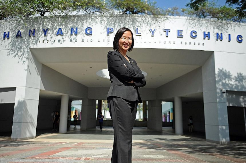 Ms Liew, who became Nanyang Polytechnic's principal last July, is the first woman to head a polytechnic here.