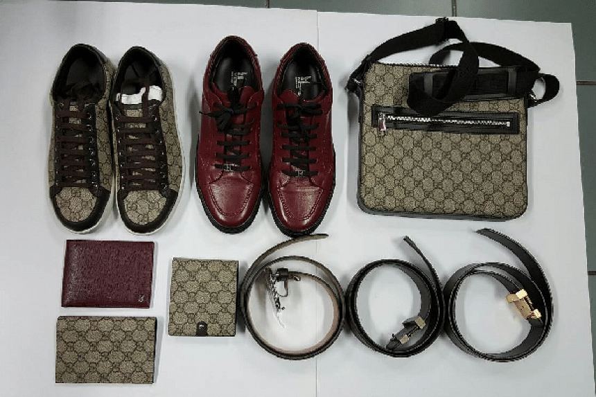 Luxury goods, believed to have been purchased by the suspects.