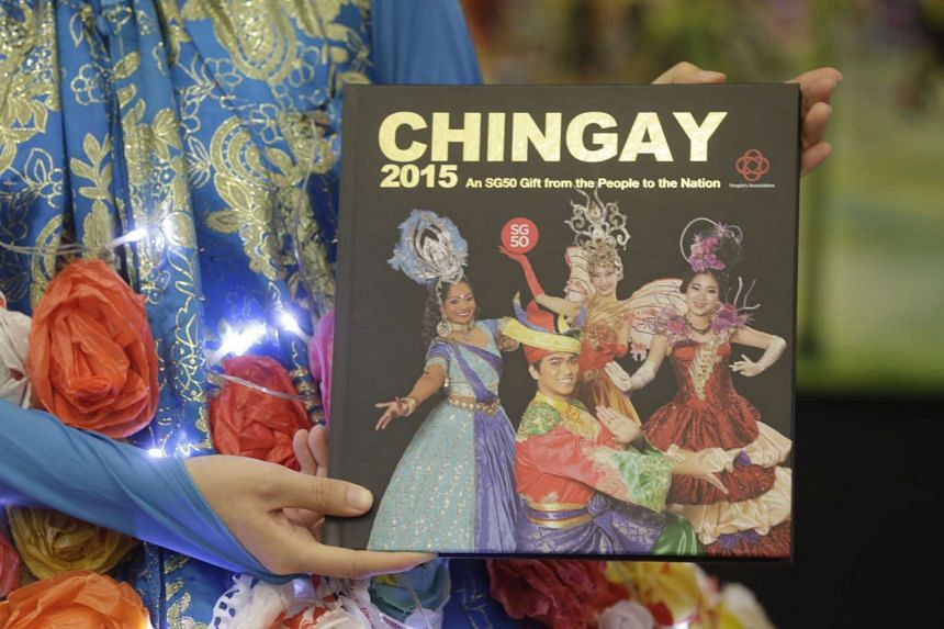 The launch of Chingay 2015 book during a media conference for Chingay 2016 at People's Association HQ on Jan 7, 2016.