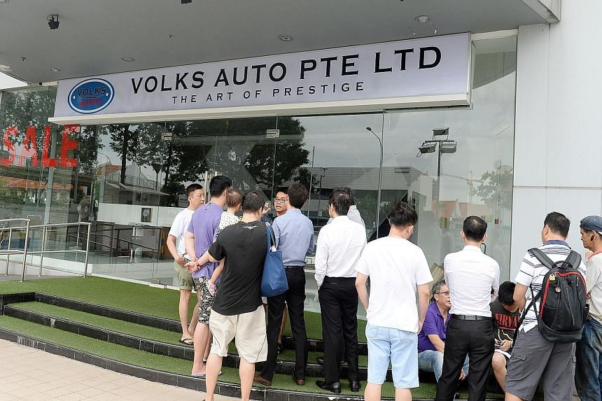 Volks Auto made the news in 2014 after disgruntled customers gathered outside its premises to look for owner Alvin Loo.