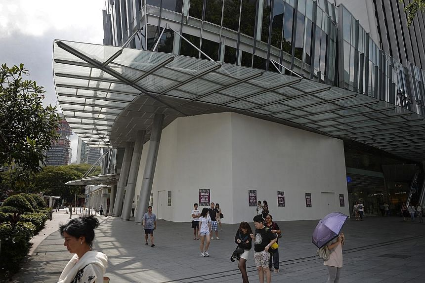 The hoarding for the two-storey Victoria's Secret flagship store in Mandarin Gallery went up last week.