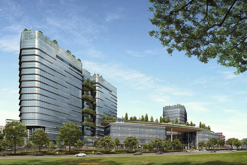 Woods Square (left, artist's impression) in Woodlands Square is one of two commercial projects launching strata units for sale in this quarter. The other is Centrium Square in Serangoon Road.