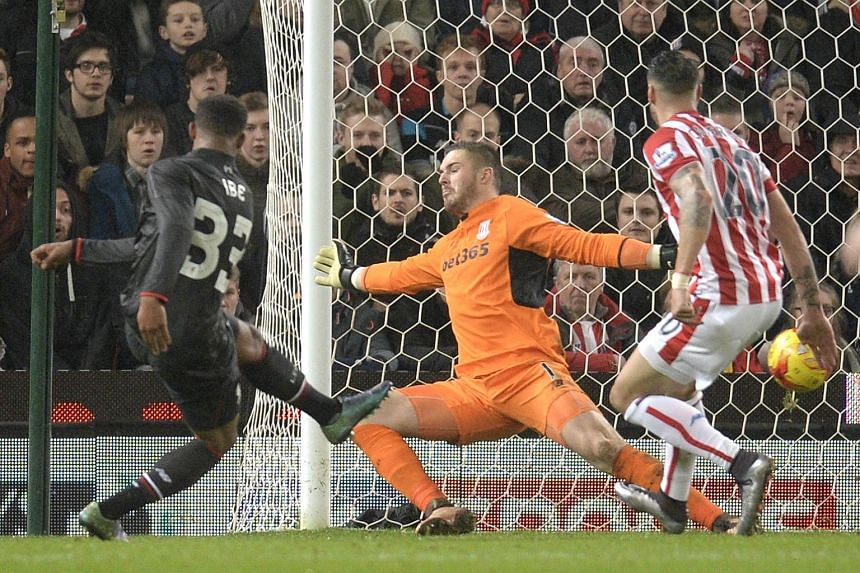Jordon (far left) Ibe slamming the ball past Stoke City goalkeeper Jack Butland to give Liverpool a 1-0 win on Tuesday. The winger is confident that the Reds can advance to the final by finishing off Stoke in the second leg at home.