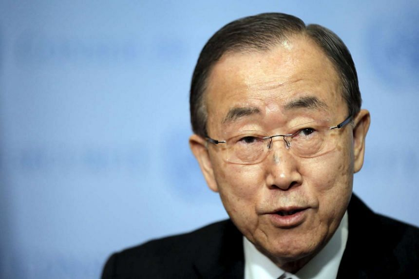 United Nations Secretary-General Ban Ki-moon speaks at UN headquarters in New York.