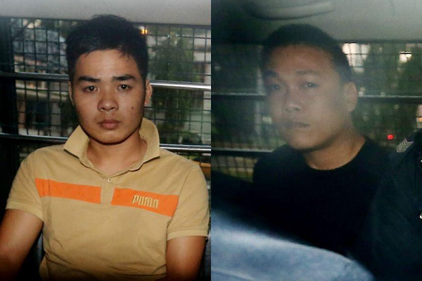 Nguyen Van Nhat (left) and Ngo Quang Phuoc.