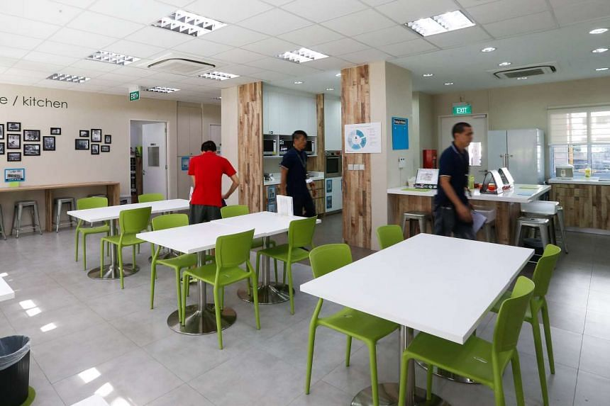The dining room at the new Eden Centre for Adults.