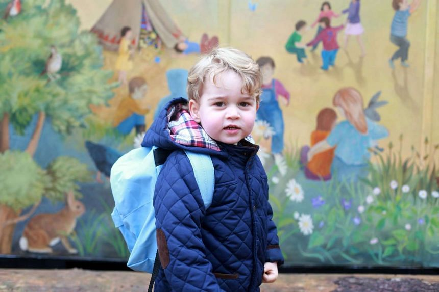 Prince George in one of the photos taken by his mother, Catherine, Duchess of Cambridge.