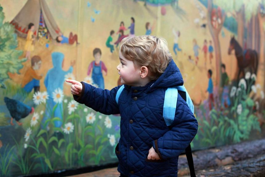 Prince George in a photo taken by his mother, Catherine, Duchess of Cambridge.