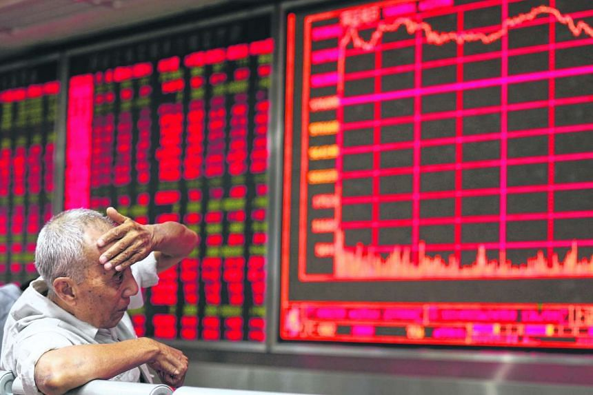 An investor at a brokerage house in Beijing on Aug 27, 2015.