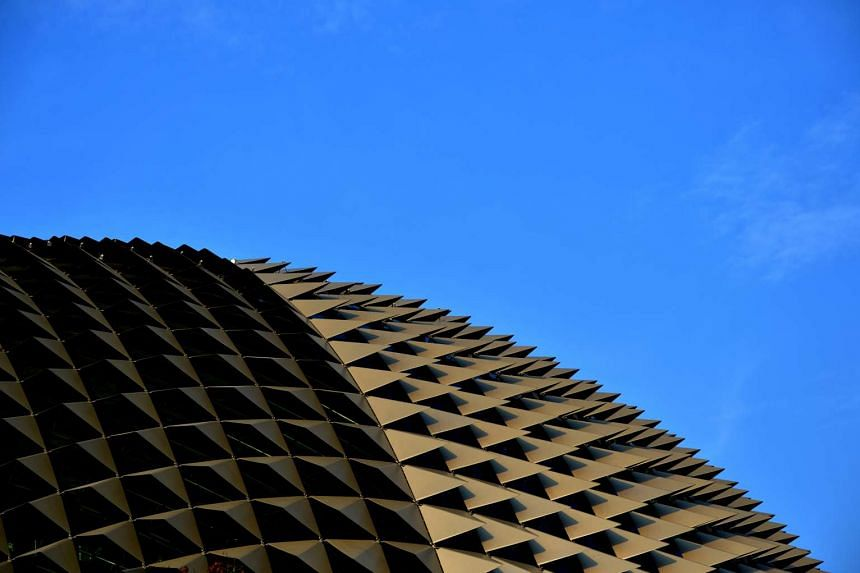 The spiked roof of the Esplanade.