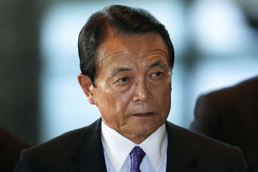 Japanese Finance Minister Taro Aso.