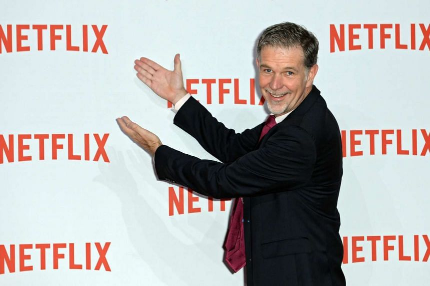 Netflix CEO Reed Hastings arriving for the Netflix party in Berlin, Germany, on Sept 16, 2014.