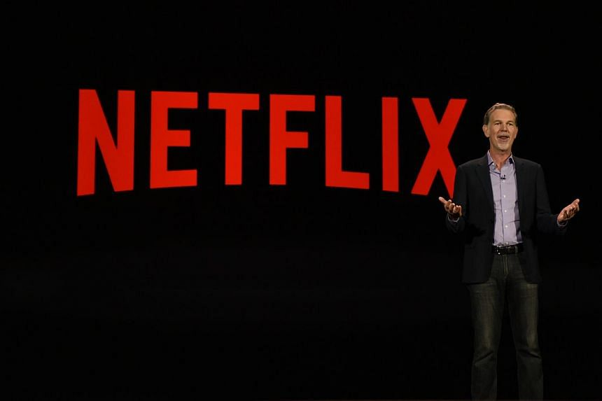 Chairman, president and CEO of Netflix, Mr Reed Hastings, delivering a keynote address at CES 2016.