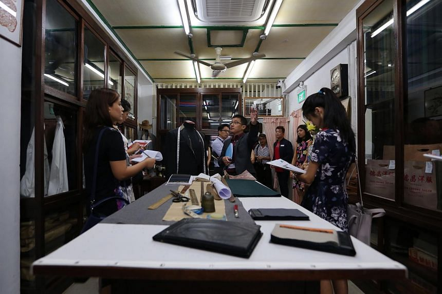 An authentic recreation of a tailor shop, typical of those that used to line Pagoda Street during the 1950s-1980s.