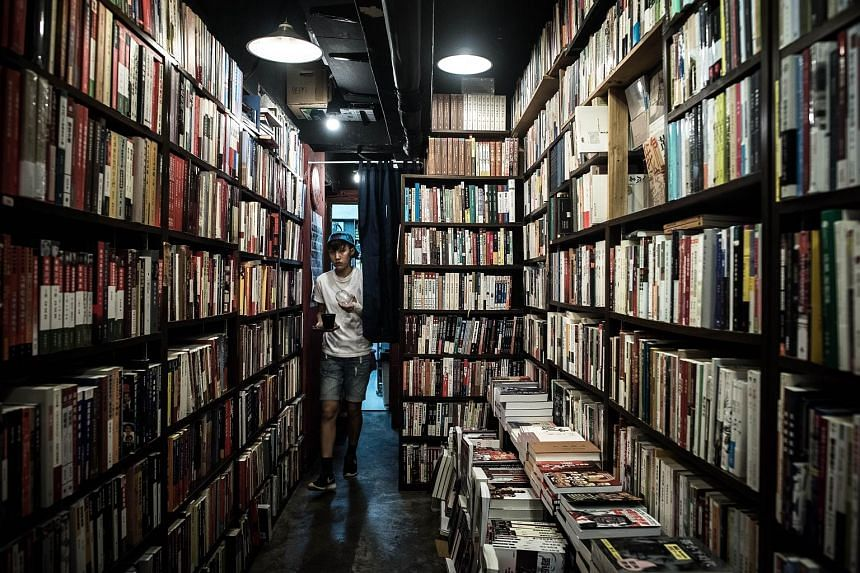 A bookstore in Causeway Bay. Hong Kong bookshops are removing political works from their shelves, while publishers and shopowners selling titles banned in mainland China say they now feel under threat.