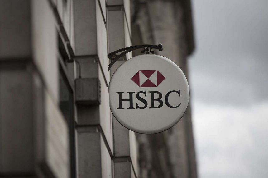 An HSBC logo on display outside an HSBC Holdings bank branch in London.