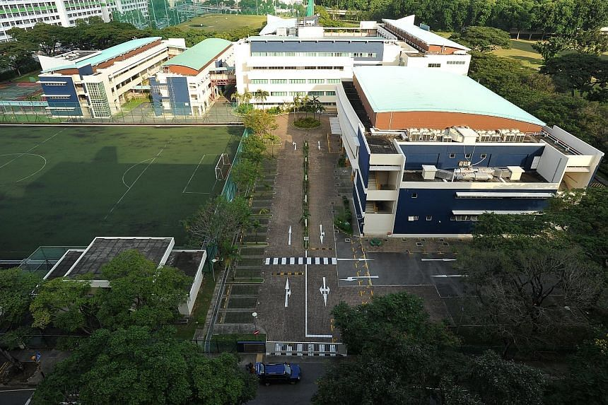 "The carpark in First Toa Payoh Secondary School. The MOE is reviewing carpark charges for schools ""in accordance with civil service guidelines""."