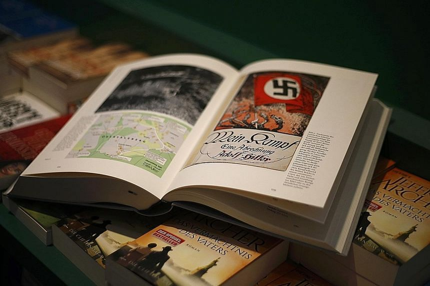 Copies of Hitler, Mein Kampf. A Critical Edition went on sale across Germany yesterday, for the first time since the end of World War II.