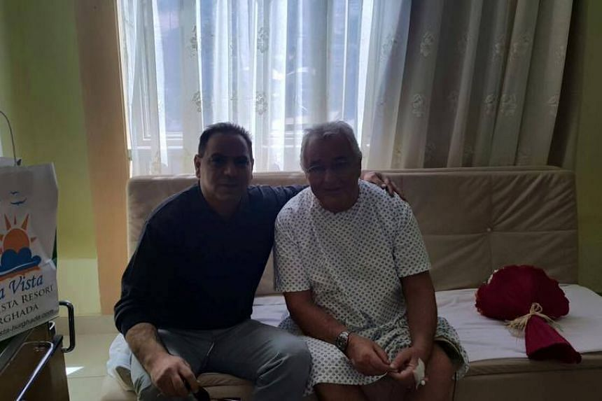 A photo of one of the injured guests from the hotel's Facebook page.