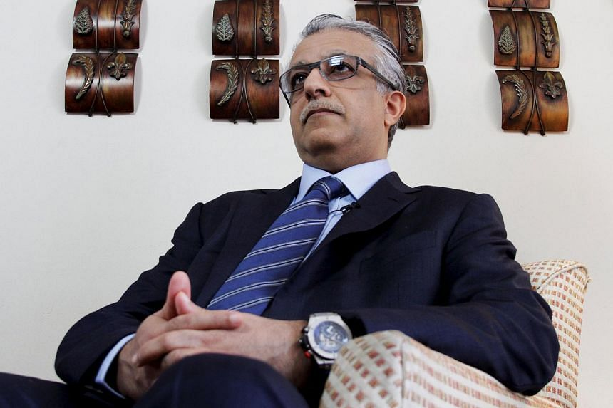 Fifa presidential candidate Sheikh Salman Ebrahim Al Khalifa attends an interview with Reuters in Panama City.