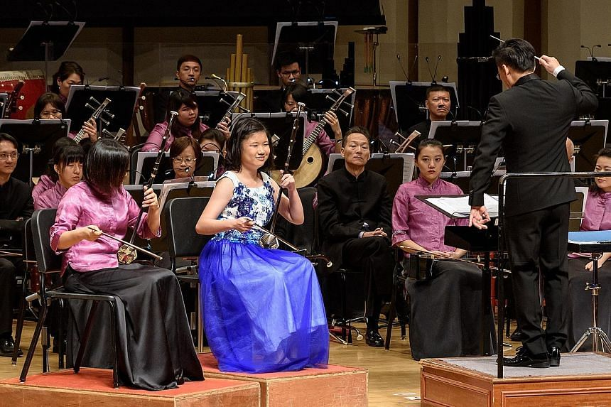 At 19, Miss Ow's list of achievements includes performing solos with the Singapore Chinese Orchestra, joining its youth wing and becoming the first recipient of the Deutsche Bank-SCO Music Scholarship. One of her solo performances was at the Deutsche