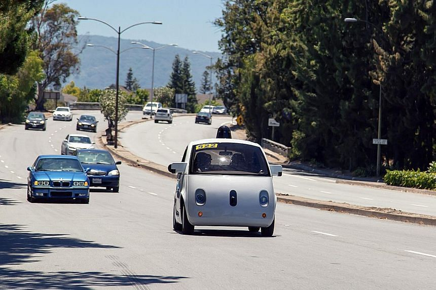 The winning solar home design by the Stevens Institute of Technology submitted for the US Department of Energy's Solar Decathlon. An undated handout photo of Google's self-driving car in Mountain View, California. Toyota's Mirai fuel-cell car - which