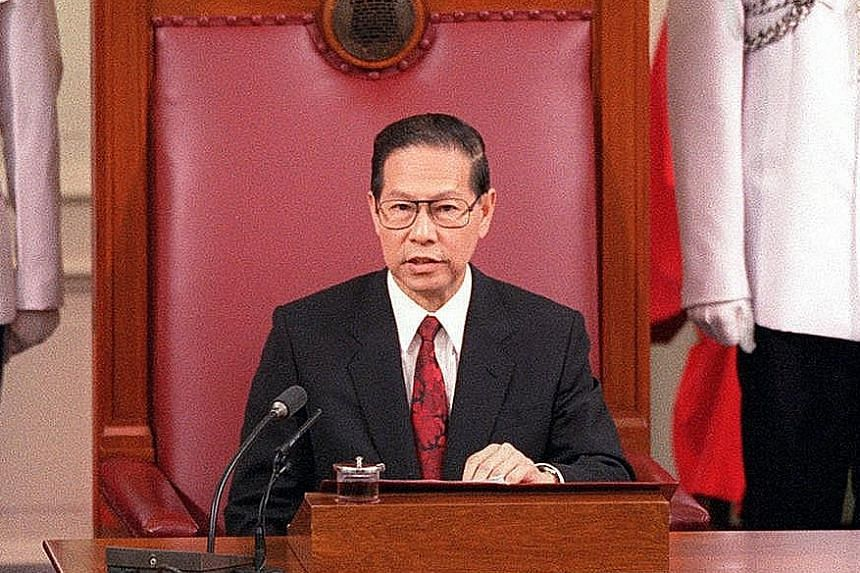 Mr Ong Teng Cheong, President of Singapore from Sept 1, 1993 to Sept 1, 1999. Mr Yusof Ishak, President of Singapore from Aug 9, 1965 to Nov 23, 1970. Dr Benjamin Sheares, President of Singapore from Jan 2, 1971 to May 12, 1981. Mr Devan Nair, Presid