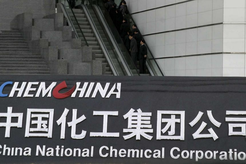 The headquarters of China National Chemical Corporation in Beijing.