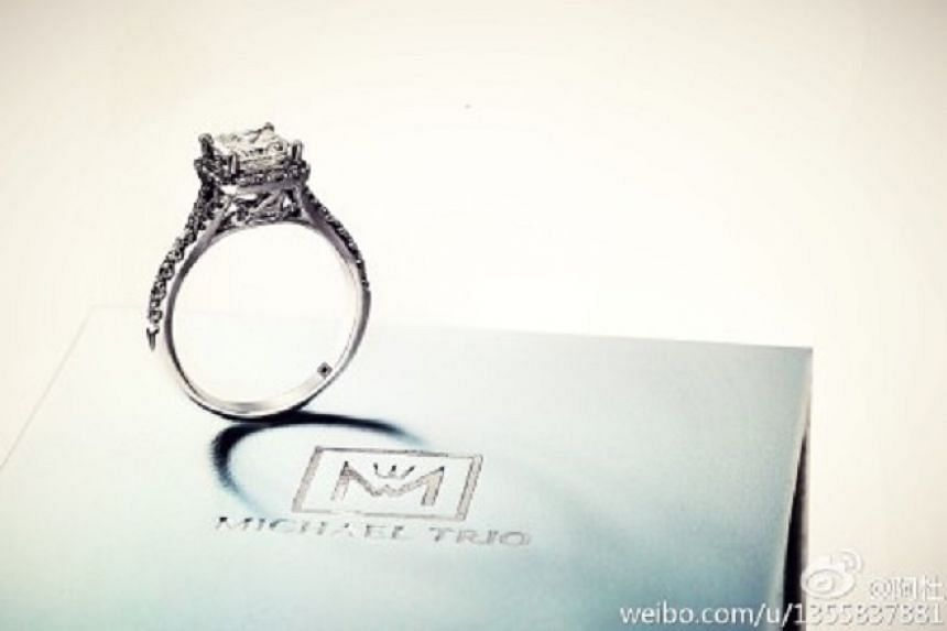 Singer A-do posted a picture of a ring on Weibo to announce his marriage.