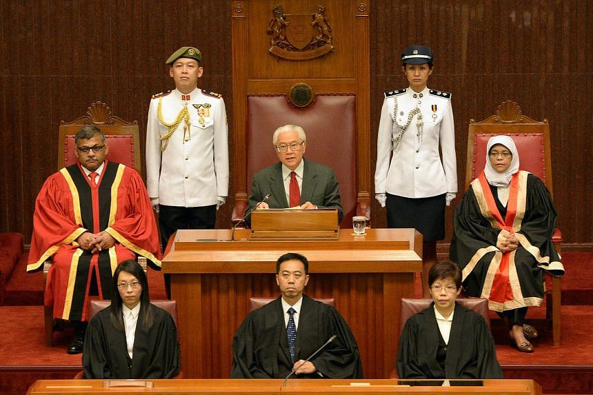 President Tony Tan Keng Yam gives his address at the opening of the second session of the 12th Parliament on May 16, 2014.