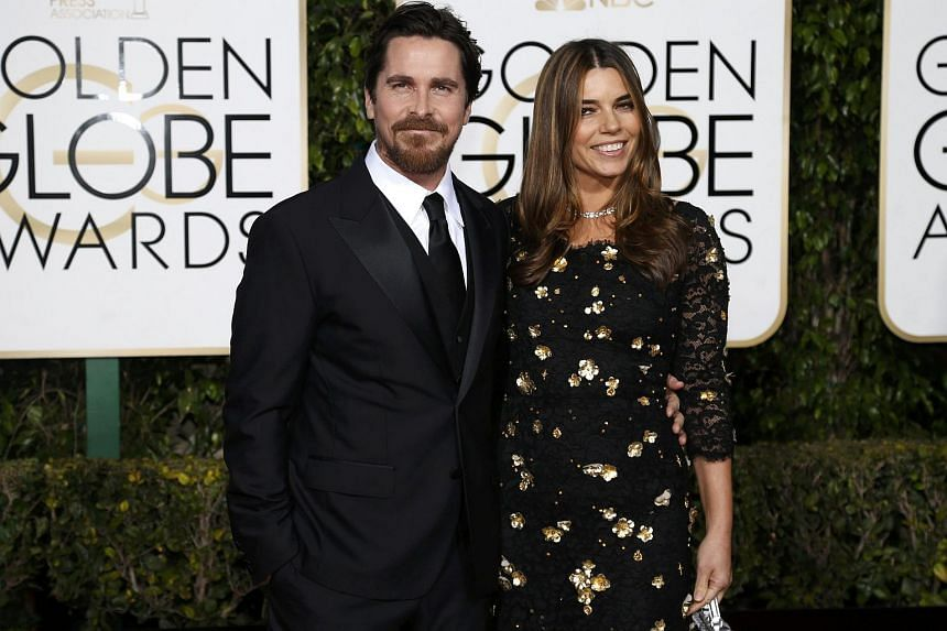 Actor Christian Bale and his wife, actress Sibi Blazic.