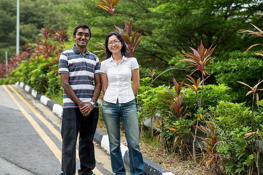 Co-founders of technology company BlueRen - Mr Aravind Muthiah and Ms Wong Chui Ling - have found an additive to make concrete stronger. Using this additive allows the amount of cement used in making concrete to be cut by 30 per cent.