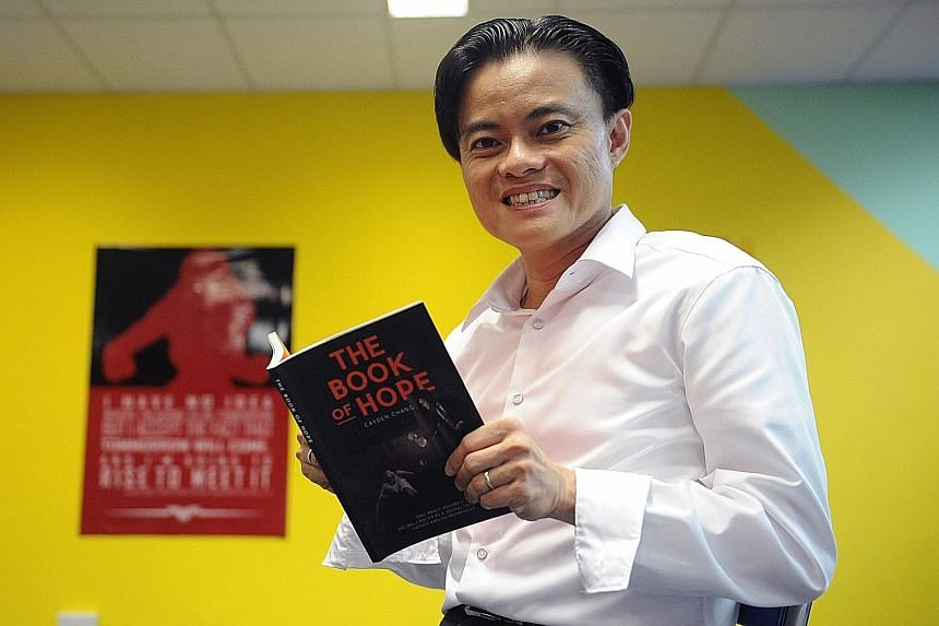 Author's proceeds from the sale of the book by Mr Chang (above) will be donated to the National Cancer Centre.