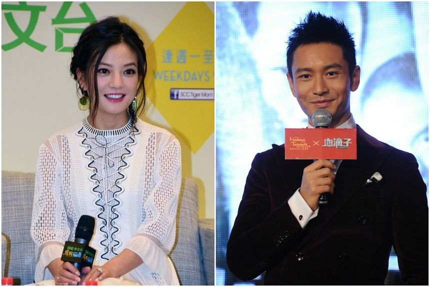 Chinese stars Zhao Wei (left) and Huang Xiaoming (right) saw the value of their investments shrink significantly.