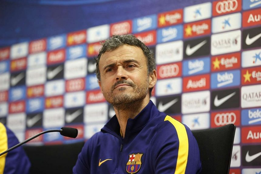 FC Barcelona's head coach Luis Enrique attends a press conference at Barcelona, Spain on Jan 5, 2016.