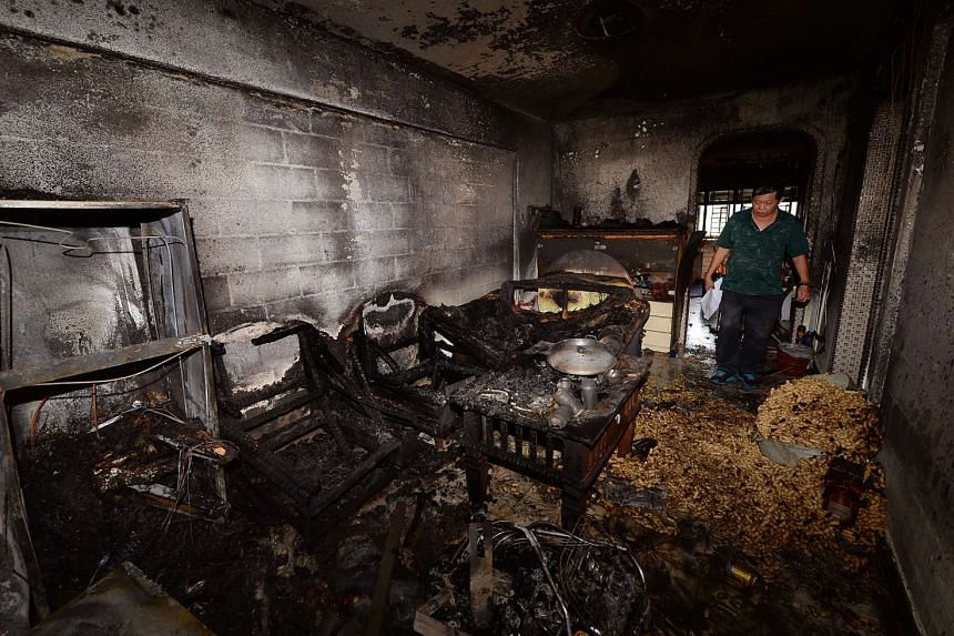 Peanuts were found strewn all over the Chai Chee flat after a fire broke out on Jan 8, 2016.