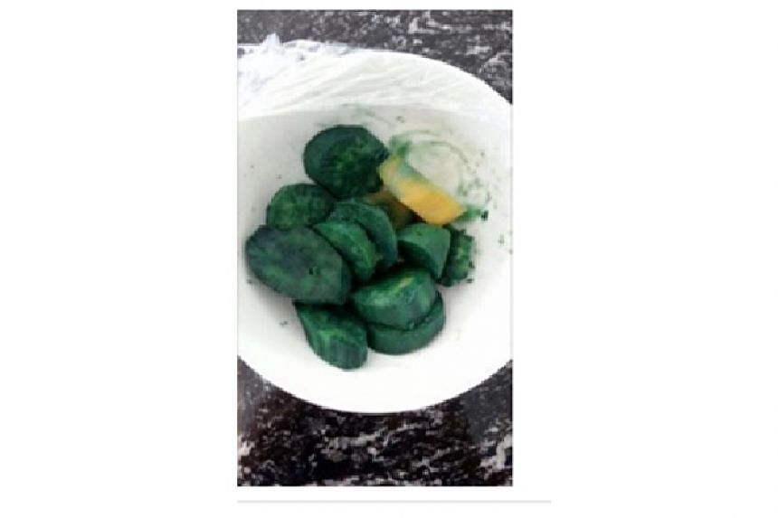 The Agri-Food & Veterinary Authority of Singapore (AVA) has stated that green sweet potatoes are still safe to eat.