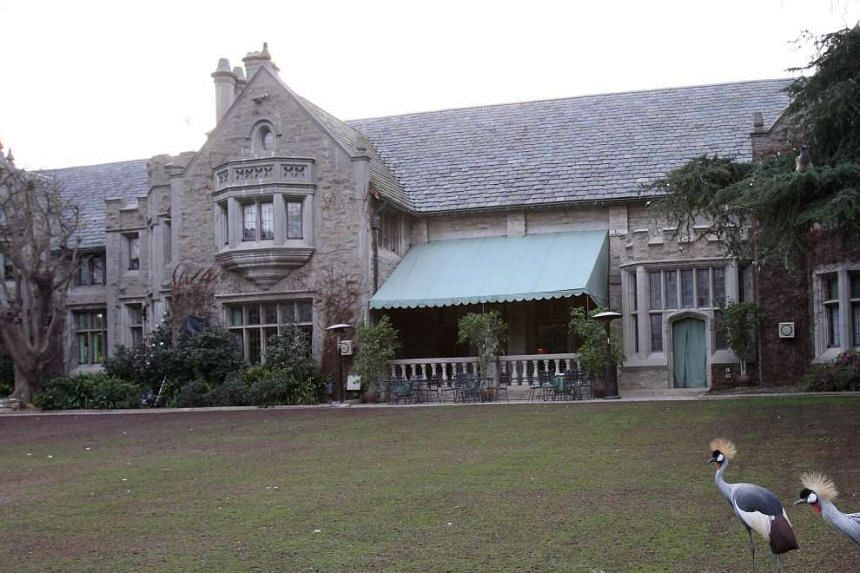 This mansion is the home of Playboy founder Hugh Hefner.
