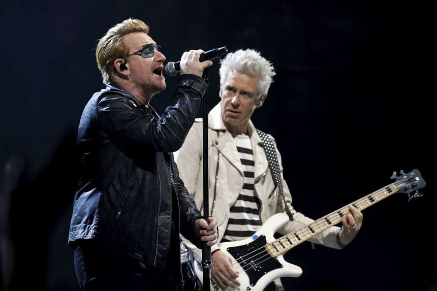 Bono (above left with guitarist Adam Clayton).