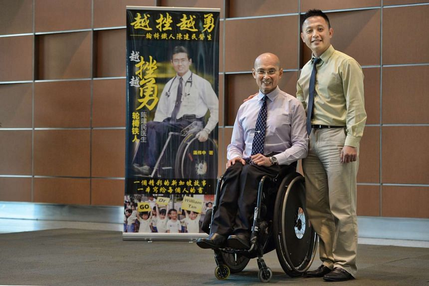 Dr William Tan and his book author, Mr Woon Wei Jong at the National Library.