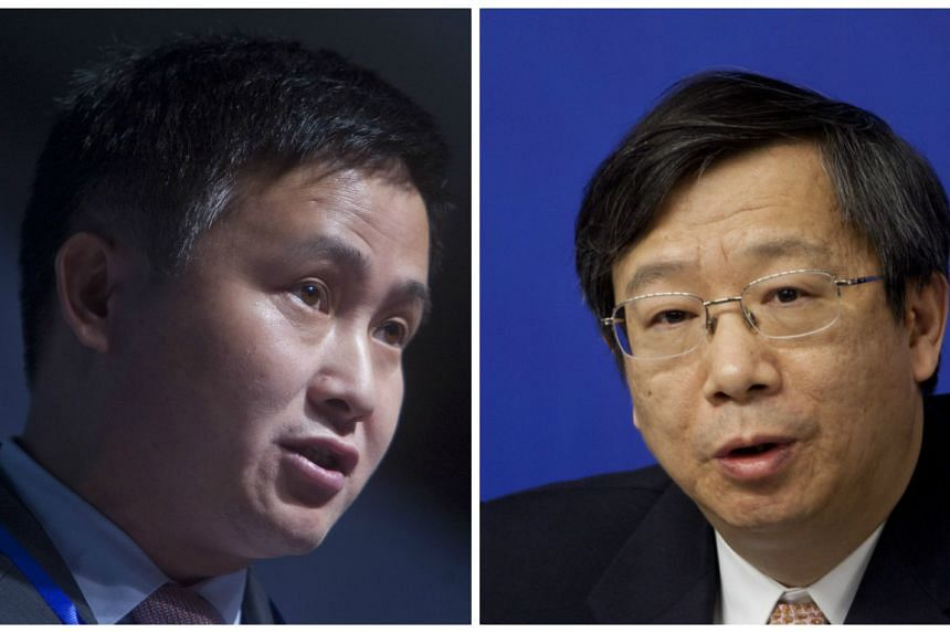 Mr Pan Gongsheng (left) will replace Mr Yi Gang as the head of China's State Administration of Foreign Exchange.