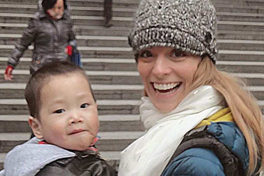 Ms Molly Sano wants to help her three-year-old adopted son Bennett find his biological parents in China before he goes blind.
