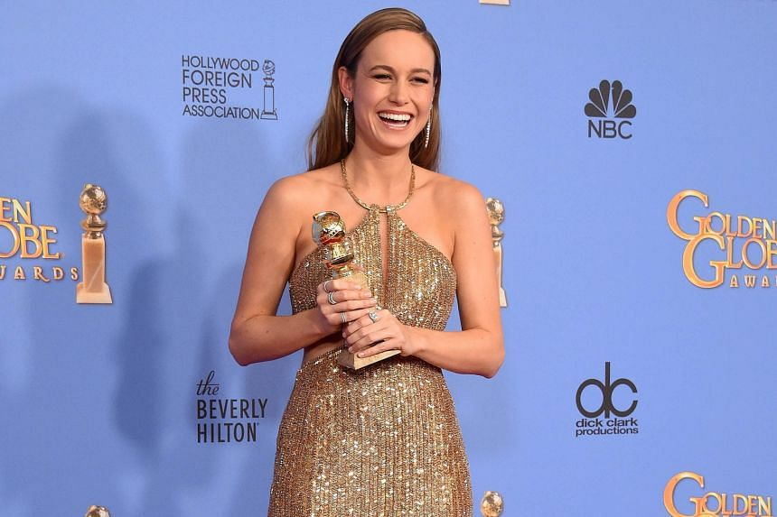 Actress Brie Larson (right) snagged the award for Best Actress in a Drama for her role in Room.